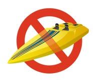 Запрет шлюпки спорт гонки Строгий запрет на моторке конструкции бесплатная иллюстрация