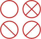 запрещать знак круг иллюстрация вектора