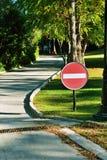 Запрещать знак на дороге Стоковое Изображение RF