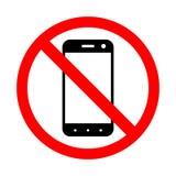Запрещать пользу мобильного телефона Стоковые Фото