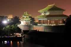 запрещенная городом часть ночи стоковые изображения rf