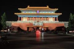 запрещенная городом часть ночи стоковая фотография rf