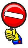запрещенная иллюстрация иконы Стоковые Изображения RF
