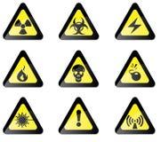 запрещенная тележка знака движения опасности грузоподъемника валюты Стоковая Фотография RF