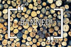 Запрещенное сочинительство текста почерка Стероиды запрета смысла концепции, отсутствие отговорки для строя мышц Деревянный год с бесплатная иллюстрация