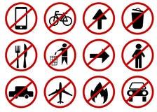Запрещенные знаки вектора бесплатная иллюстрация