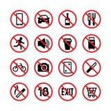 запрещенные знаки Значки сигнала вектора запрета и предупреждения бесплатная иллюстрация