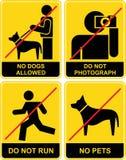 запрещенные знаки Стоковое Фото