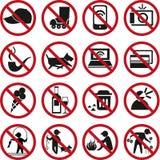 Запрещенные знаки иллюстрация штока