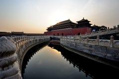 запрещенный городом восход солнца gu гонга стоковое фото rf