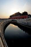 запрещенный городом восход солнца gu гонга Стоковые Изображения