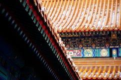 запрещенный город Gugong Элементы архитектуры традиционного китайския стрехи стоковое фото