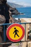 запрещенный дорожный знак океана к Стоковое Фото