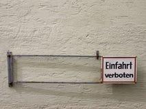 Запрещенный знак Германия входа Стоковое Изображение