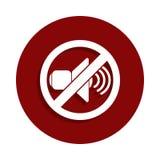 Запрещенный знак с значком громкоговорителя в стиле значка Одно значка собрания спада можно использовать для UI, UX бесплатная иллюстрация