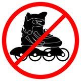 запрещенный знак rollerskate Стоковое фото RF