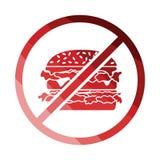 Запрещенный значок гамбургера Стоковые Фото