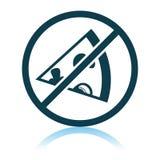 Запрещенный значок пиццы иллюстрация вектора