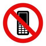 Запрещенный мобильный телефон иллюстрация штока