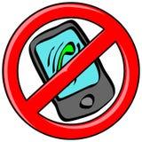 Запрещенный мобильный телефон Стоковое Фото