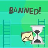 Запрещенный показ примечания сочинительства Стероиды запрета фото дела showcasing, отсутствие отговорки для строя мышц Рост соста бесплатная иллюстрация