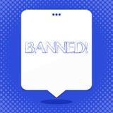 Запрещенный текст сочинительства слова Концепция для стероидов запрета, отсутствие отговорки дела для строя мышц Речь пустого про бесплатная иллюстрация