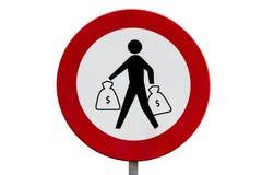 Запрещено выйти с тантьемой Стоковые Изображения