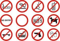 запрещено Стоковые Фотографии RF