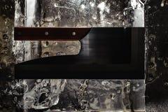 Заприте выбор льда инструмента, нож, ось Стоковая Фотография