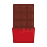 заприте помадку шоколада иллюстрация штока