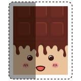 заприте помадку шоколада бесплатная иллюстрация