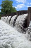 Запруда и водопад стоковое изображение