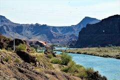Запруда Parker, Parker, Аризона, La Paz County, Соединенные Штаты Стоковое Изображение RF