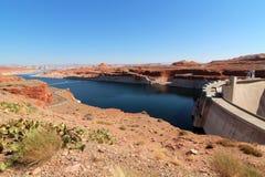 Запруда каньона Глена/озеро Пауэлл Стоковые Изображения RF