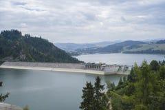 Запруда Czorsztyn на реке Dunajec Стоковое Изображение