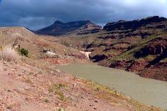 Запруда Presa de Ayagaures, Gran Canaria Стоковое Изображение