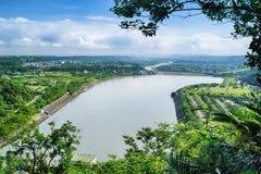 Запруда Shihmen в Fuxing или районе Daxi, Taoyuan, Тайване стоковое изображение