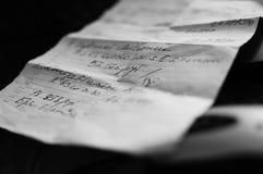 Запуск на куске бумаги Стоковые Фото
