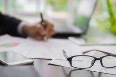 Запуск планирования бизнесмена нерезкости Стоковое Изображение RF