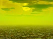 запустелый polluted ландшафт Стоковое Изображение