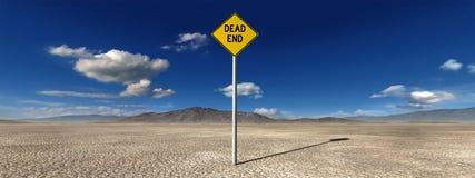 Запустелая иллюстрация мертвого конца пустыни Стоковые Фотографии RF