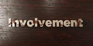 Запутанность - grungy деревянный заголовок на клене - представленное 3D изображение неизрасходованного запаса королевской власти иллюстрация вектора