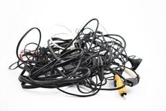 Запутанные изображения запаса кабелей и соединителей Стоковые Изображения RF