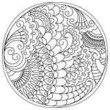 Запутанные мандалы и формы в круге Стоковая Фотография RF
