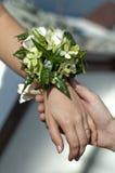 запястье руки венчания букета Стоковые Фото