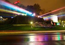 Запятнайте света используемые для того чтобы осветить вверх водопады Ниагарского Водопада Стоковое Фото