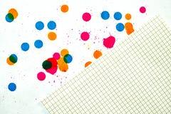 запятнанная бумага Стоковое Изображение