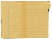 запятнанная бумага grunge старая Стоковое фото RF