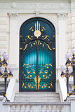 запятнанное стекло дверей Стоковое Фото
