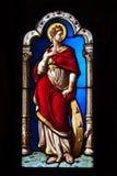 запятнанное стекло замка blois стоковое изображение